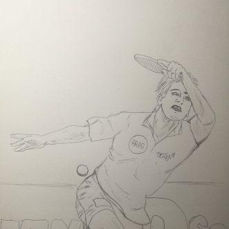 """Drawing: """"Tischtennis"""" – Lineart"""