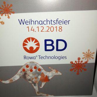 BD Rowa Kelberg Weihnachtsfeier 2018 – Wie auch die Jahre zuvor wieder ein toller Event.