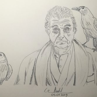 """Drawing: """"American Gods"""" – Lineart"""