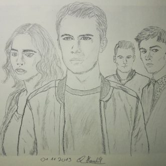"Drawing: ""13 Reasons Why – Tote Mädchen lügen nicht"" – Lineart"