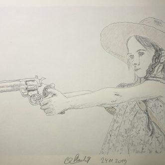"""Drawing: """"The walking dead – Judith"""" – Lineart"""