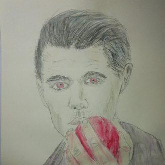 """Drawing: """"Vampire Diaries – Mein ist dein ganzes Herz"""" – Lineart"""