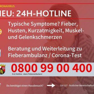 Corona – 24H – Hotline Rheinland-Pfalz