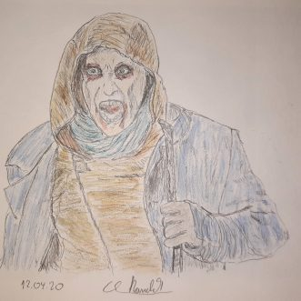 """Drawing: """"Van Helsing – Sam"""" – Lineart"""